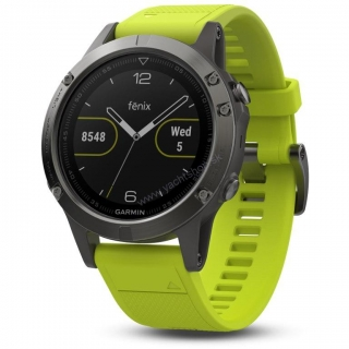 GARMIN Fénix 5 Grey Smarthodinky, Yellow band