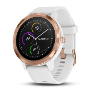 GARMIN vívoactive 3, White Silicone, Rose Gold