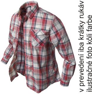 krátka košeľa Banga (red checkered) s/s XS